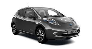 Electric cars 4 Grey Nissan Leaf side view