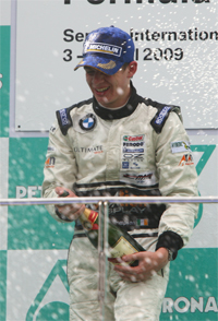 Gary wins the Rookie Cup in the Formula BMW Pacific series