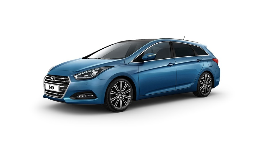Hyundai i40 5 2017 Blue side view