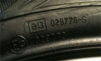 Tyre 'E' Mark