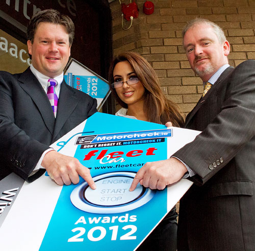 Shane and Cathal with Nadia Forde at the launch of the Motorcheck.ie Fleet Car Awards 2012