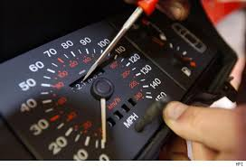 Clocking 2 Odometer and screwdriver