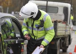 MOT 4 Police talking to motorist