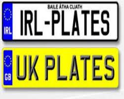 Motoring trend 6 - UK to Ireland registration plates view