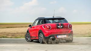 Mini Countryman 6 Paceman Red rear side view