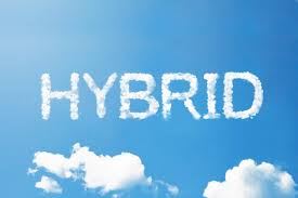 Electric car 5 Hybrid cloud written in the sky