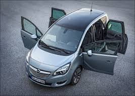 Opel Mervia 3 Grey top view of exterior with four doors open