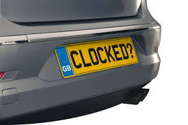 Clocking 3 UK car registration with clocked written on it