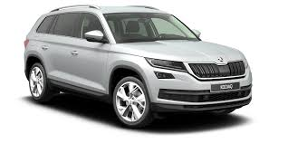 Family car 3 Skoda Kodiaq white front and side view