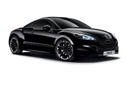 Peugeot RCZ 1 Side view of black version on white background