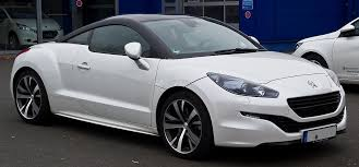 Peugeot RCZ 2 2010 Side view of white and black topped version
